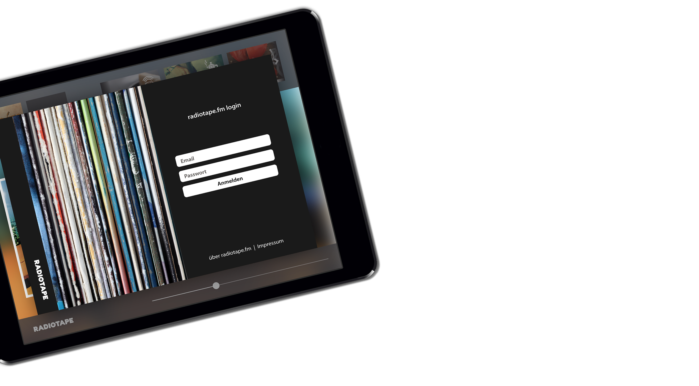 Frontend UI Tablet Log-In